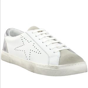 Rezume Lace Up Sneakers by Steve Madden star print